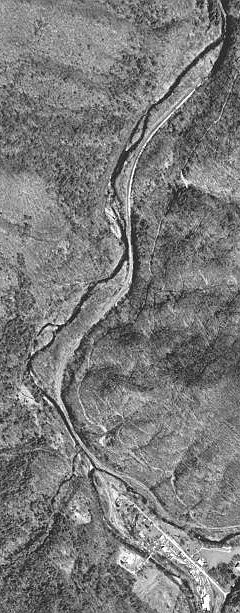 The portion of the upper Elk River that I walked.  From its origin at the junction of Old Field Fork and Big Spring Fork to the end of the four-track railyard.  About 1½ miles. USGS 1997.